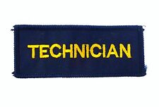TECHNICIAN Ambulance Paramedic Medic First Aid Sew On Embroidered Patch Badge A2