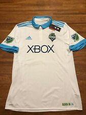 Brand New Adidas MLS Seattle Sounders White Alternate Jersey! Size LARGE. Tags!