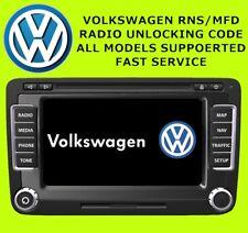 RNS510 RADIO UNLOCK CODE VW RADIO UNLOCK DECODE SERVICE VWZ6Z7, VWZ1Z7, VWZAZ