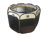 UK Large Portable Pet Dog Cat Playpen Tent Oxford Fence Kennel Cage Crate