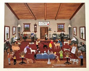 "Jane Wooster Scott Signed & Numbered L/ED Lithograph "" The Waiting Room """