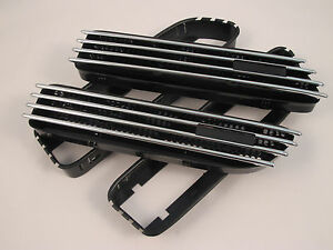 (2) Replacement Chrome Side Grill Grille Fender Air Vents Fits BMW E46 M3 01-06