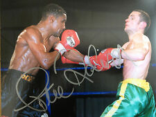 Steve Robinson - Former World Champion - AUTOGRAFATO colore FIGHT Fotografia