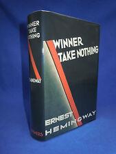 WINNER TAKE NOTHING Ernest Hemingway 1st Edition First Print, 1933