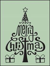 """Crafts Too Embossing Folder """"Merry Christmas"""" Ctfd3071 For Cards & Scrapbooking"""