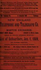 28 antique TELEPHONE DIRECTORY genealogy Massachusetts MAINE Vermont 1886-1901