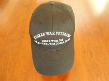 Korean War Veterans Baseball-Style Snapback Hat, Black