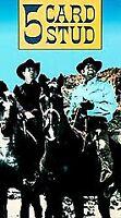 Five Card Stud, Dean Martin, Robert Mitchum, VHS