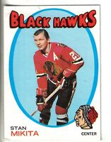 1971-72 O-Pee-Chee Hockey Card #125 Stan Mikita Chicago Black Hawks EX.