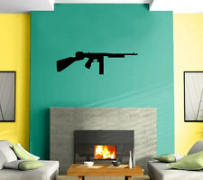 Rifle Machine-Gun Revolver Gangster  Mural Wall Art Decor Vinyl Sticker z419