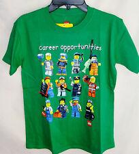 "LEGO SHORT SLEEVE GREEN ""CAREER OPPORTUNITIES"" TEE SHIRT BOY SIZE 10/12 NWT"