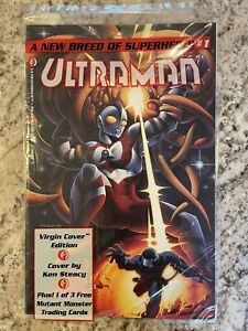 Ultraman #1 (1992) Ultracomics Virgin Cover Sealed In Poly Bag With Trading Card