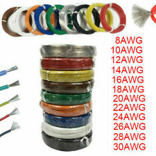 15FT 30AWG Copper Tinned Silicone flexible Hook Up Wire UL UL3135 Yellow