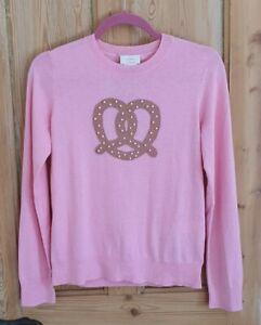 Kate Spade Candy Pink Pretzel Cotton & Silk Jumper Pullover XS UK 8/10 £240