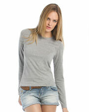 Cotton Long Sleeve Crew Neck T-Shirts for Women