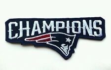 """New England Patriots Champions Logo NFL 4 1/8"""" Embroidered Iron On Patch"""