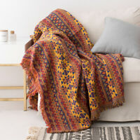 100% Cotton Woven Sofa Bed Throw Blanket Bedspread Settee Cover LARGE SIZE