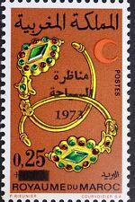 YT 675 Marokko Morocco neu MNH Schmuck Halb- rot 1973 surcharge
