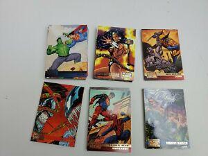 1995 DC VS MARVEL COMICS COMPLETE BASE CARD SET OF 100 COMIC CARDS
