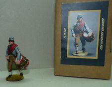 Principe ereditario toy soldiers, sudista Tamburino, Drummer, acw020, Civil War 1/30