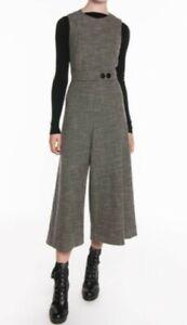 VERONIKA MAINE Mini Houndstooth Jumpsuit, Size 16 RRP $329 Fem Boss Autumn