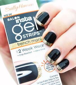 Sally Hansen Salon Insta Gel Strips French Mani 460 GOOD AS GOLD *must use UV*