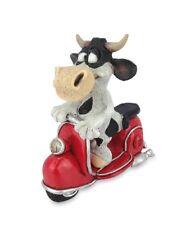 Les Alpes 014 81519 Kuh Berta auf Vespa 12,5 cm Kunstharz Dekofigur Kuh Berta