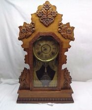 Antique Ginger Bread Mantle Clock Citizen No.17 by Wm. L Gilbert Clock Co.