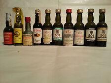 Vino Sherry, lotto di 10 mignon della Spagna 501, Pedro Domecq, Duff Gordon ecc