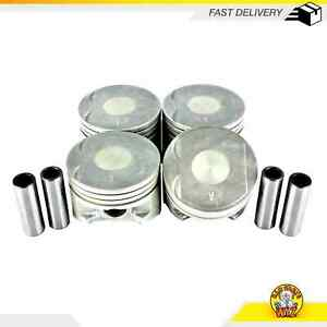 Piston Set STD Size FITS 92-96 Eagle Mitsubishi Plymouth Expo LRV Colt 1.8L SOHC