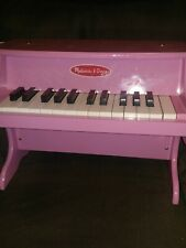 """Melissa and Doug High Gloss PINK Learn to Play Piano Toy 16"""" Wooden, 25 Keys"""