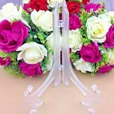 1 x Clear Plate Plastic Stand Holder Display Easel Picture Frame Photo Bowl LRG