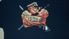 (2-Sided) US NAVY CHIEF - POPEYE THE SAILOR T-SHIRT 2XL USN Master Petty Officer