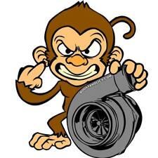 "All-new Boostaholics turbo boost monkey sticker ""HARAMBE 2.0"""