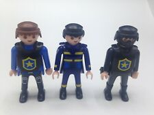 Playmobil Figures Set of 3 Police Men Figures Male