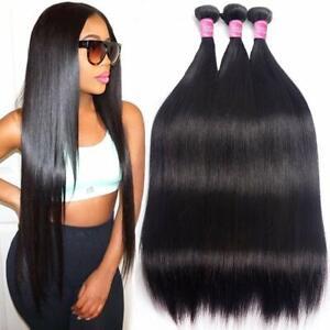 10A Brazilian Hair 3 Bundles Straight Human Hair Bundles Straight Human Hair 1B