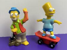 Lot of 2 Simpsons 1990s Fast Food Figures Bart Simpson Wind-Up Skateboard Homer