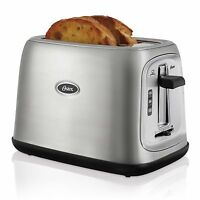 Oster® 2-Slice Toaster Extra-Wide - Stainless Steel
