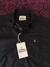 BNWT Smart 100% Genuine Vivienne Westwood S/S Black Shirt In Size 50, Medium