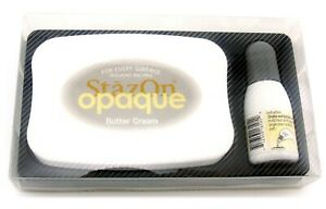 Tsukineko StazOn Permanent Solvent Ink Pad Set Reinker Staz on 105 butter cream