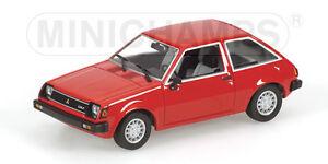 Minichamps 400163501 MITSUBISHI COLT - 1978 - RED L.E. 2016 - 1:43  #NEU in OVP#