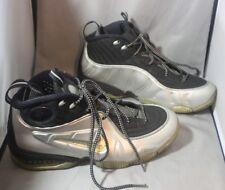 Nike Air 1/2 Cent 344646 003 Black Metallic Silver Foamposite Size 9.5