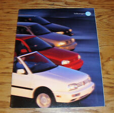 Original 1996 Volkswagen VW Full Line Deluxe Sales Brochure 96 Jetta Golf Cabrio