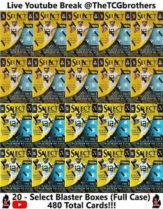 Detroit Lions Break #339 Select Blaster Box (20 Boxes) (480 Cards)