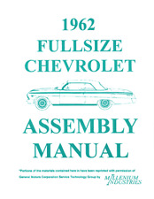 1962 Full Size Chevrolet Impala Assembly Manual MB952