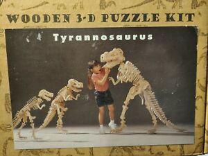 B.C. Bones Wooden 3D Puzzle Kit Tyrannosaurus Small 24x36 1998 NEW