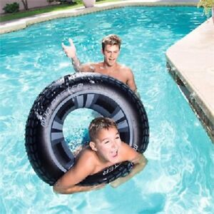 """Bestway Dream Floats Inflatable Mud Master Swim Ring 36"""" Truck Tire Tube 36"""""""