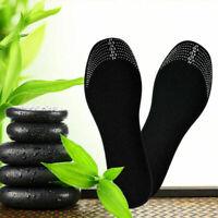 Unisex Leather Sweat Antibacterial Deodorant Cushion Shoe Foot Pads Insoles B4U0