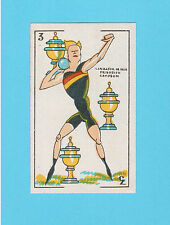 Track & Field Shot Put Champ & Felix the Cat Vintage 1920s Spanish Playing Card