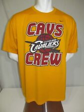 Used 2000s Nike Fit Dry Cavs Crew Cleveland Cavaliers NBA Screened T-Shirt XL